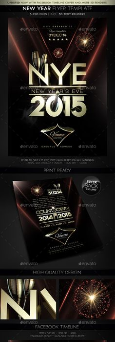 New YearS Eve Party Flyer Template  Nice Ad    Party