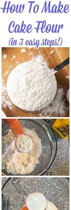 Cake flour is expensive Learn to make CAKE FLOUR at home with just