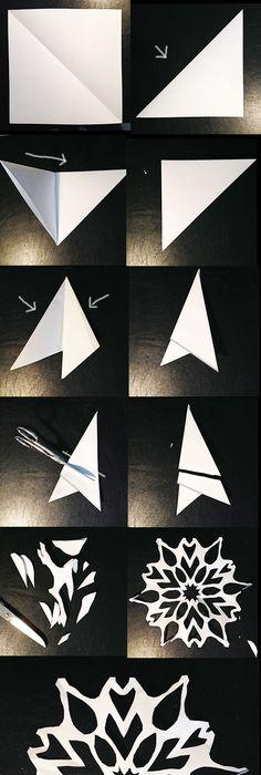 schneeflocken aus papier basteln scherenschnitt anleitung papier basteln schneeflocken und. Black Bedroom Furniture Sets. Home Design Ideas