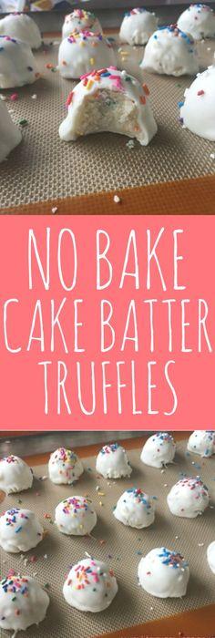 NoBake Birthday Cake Truffles Recipe Truffle Birthday cakes