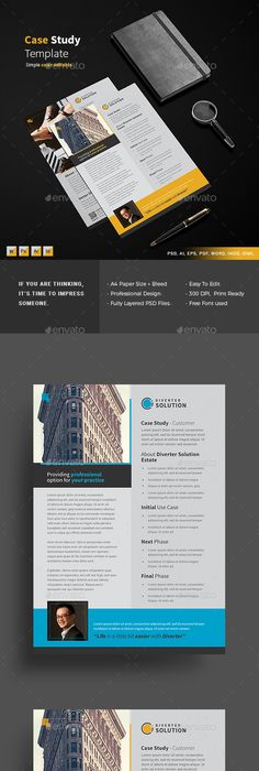 Case Study Template  Design    Template Case Study