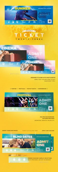 Inverto Party Event Ticket  Event Ticket Psd Templates And Template