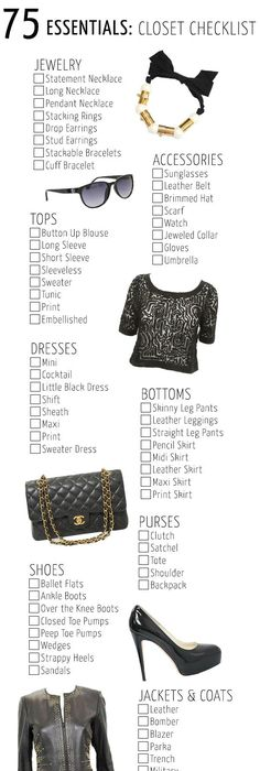 The Only Wardrobe Checklist Youu0027ll Ever Need | Clothes, Woman And Wardrobes