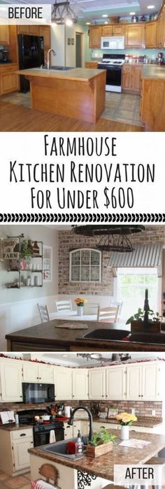 Transform Your Kitchen Into The Farmhouse Of Dreams On A Budget For Less Than