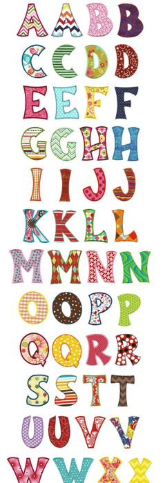 Wooden Alphabet Letters Spots  Stripes  Tatiri A Really