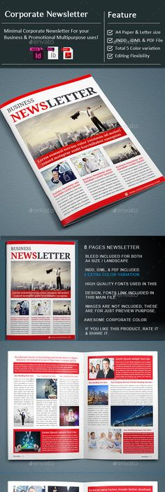 Newsletter Bundle Vol  Newsletter Templates Adobe Indesign Cs
