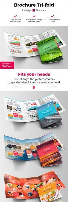 Corporate Bi Fold Square Brochure 02 Brochure Template Brochures