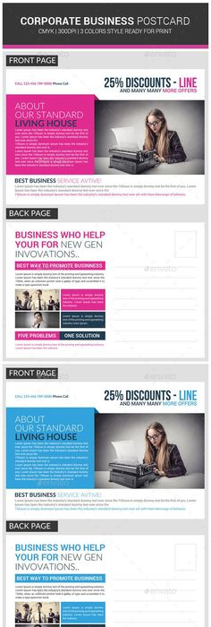 Corporate business postcard psd template business postcards corporate business postcard psd template business postcards postcard template and corporate business accmission Gallery