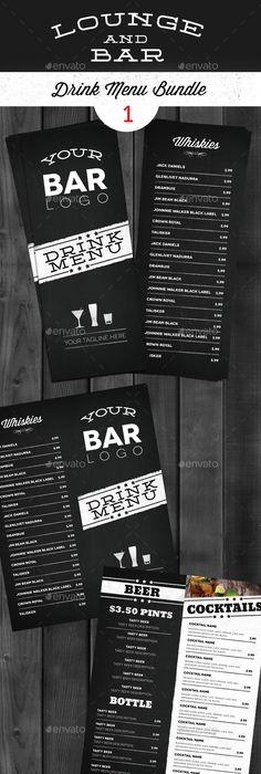 Cocktail Drinks Menu V8 Drink menu, Menu and Menu templates