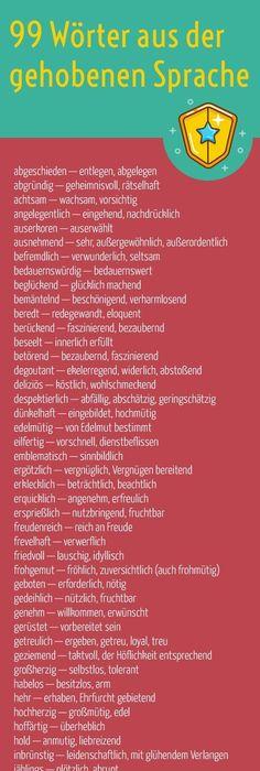 99 Wörter aus der gehobenen Sprache für gefühlvollere Texte ...