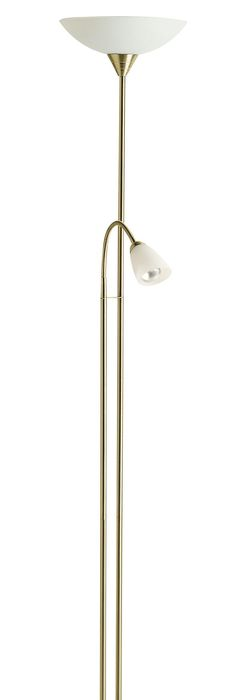 Carpio gold floor lamp