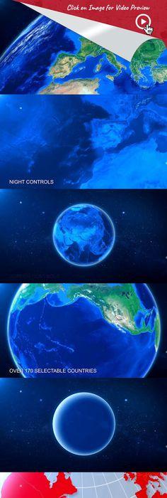 world map earth zoom