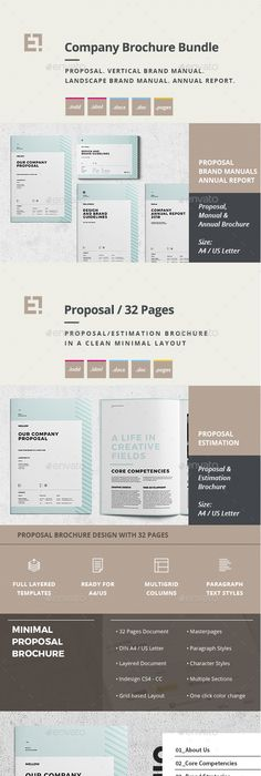 Questionnaire Web Design Brochures, Typography layout and