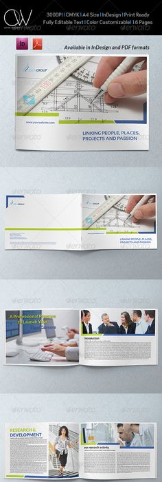 Corporate Brochure Template Vol.37 - 12 Pages | Corporate brochure ...