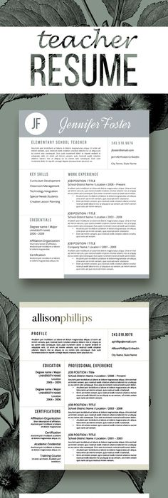 Resume Template   Cover Letter and Reference   EDITABLE  Pink       Resume Template   Cover Letter and Reference   EDITABLE  Pink   Light Gray     Teacher resume template  Cv template and Teacher