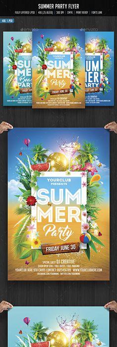 Summer Flyer  Flyer Template Summer And Template