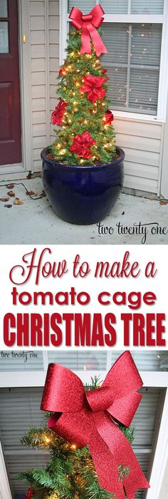 Tomato Cage Christmas Tree! GREAT Tutorial And SO EASY To Make! It Cost Less