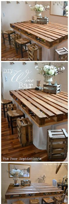 Diy reclaimed barn wood table kits lumber ready meaning all the diy pallet projects do it yourself completely free pallet wine bar table top minimal woodworking solutioingenieria Image collections