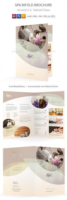 Spa Center Brochure Template  Spa Center Brochure Template And