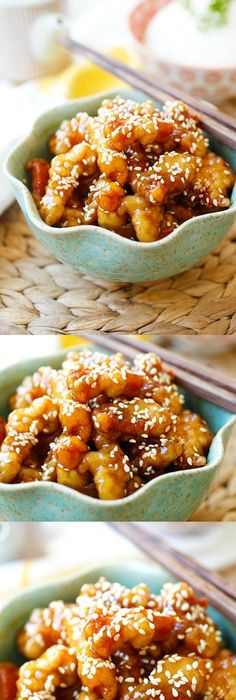 Sesame Chicken Crispy Chicken With Sweet Savory Sauce With Lots