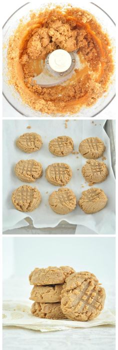 3 Ingredient Vegan Peanut Butter Cookies that Contain NO Oil, NO Refined  Sugar and NO