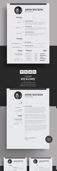 Best Minimal Resume Templates    Graphic Design