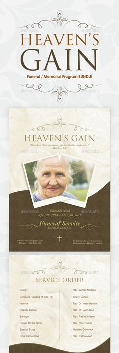 The Story In Memory Of  Celebration Of Life  Funeral Program