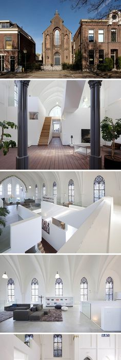St jakobus church converted into a home acchomplished by zecc architects location in utrecht netherlands