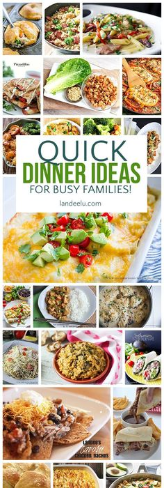 The best 30 minute meals recipes easy quick and delicious family a ton of awesome quick recipes and dinner ideas for busy families i can forumfinder Gallery