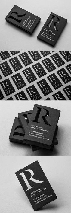 Trendy and chic vertical business cards template with black and personal business cards by ryan romanes httpryanromanes reheart Images