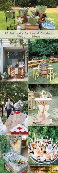 25 Intimate Backyard Outdoor Wedding Ideas
