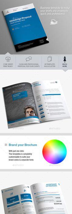 Professional Proposal Templates Sleman Clean Proposal Template Volume 6  Proposal Templates .