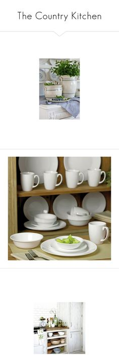 The Country Kitchen  by csliteraryjewelry ? liked on Polyvore featuring home kitchen u0026 · Dinnerware SetsStoneware DinnerwareWhite ...  sc 1 st  Pinterest : lightweight dinnerware sets - pezcame.com