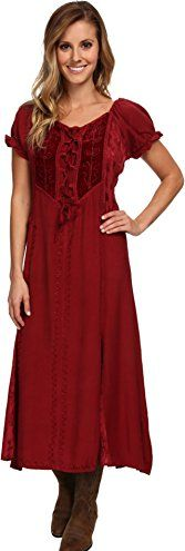 Scully Womens Honey Creek Ella Dress Burgundy Dress SM *** Check out the  image