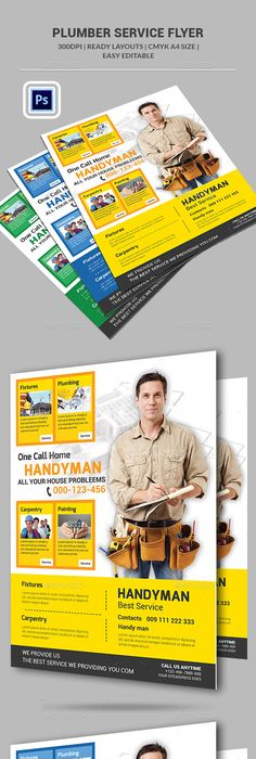 Flyer Template Handyman V  Flyer Template And Template