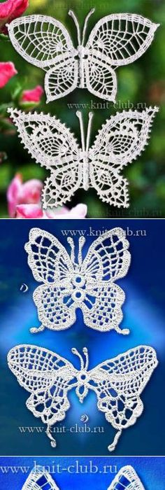 otra mariposa | Muster | Pinterest | Schmetterlinge, Häkelmuster und ...