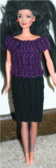 Barbie dress pattern make grandmother used to knit dresses from free knitting pattern barbie shirt skirt using worsted weight yarn dt1010fo