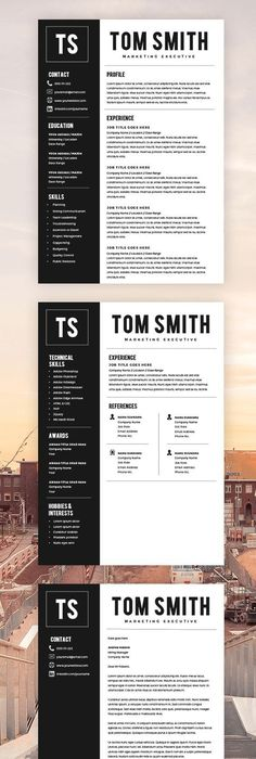 Professional Resume Design / Professional CV Design - Be - Instant Resume Builder