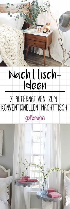 Pimp My Bedroom! 7 Geniale Alternativen Zum Normalo Nachttisch