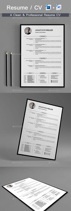 Resume  Ai Illustrator Cv Template And Illustrators