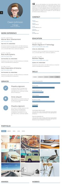 Proxima Online Resume Template Is Unique Online Resume Template Because Of  Its Multi Column/