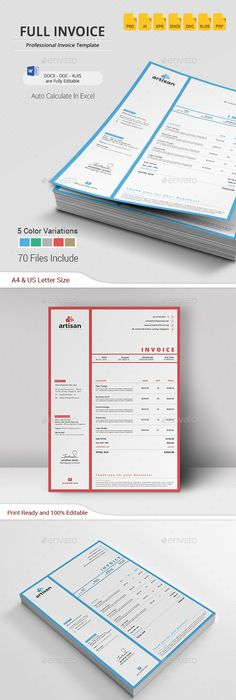 Creative Invoice Designs For Your Inspiration  Corporate