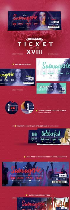 Concert Event Tickets  Event Ticket Ticket Template And Template