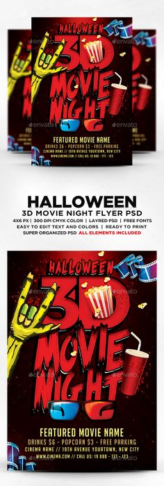 Movie Night Flyer Template Psd  Flyer Templates