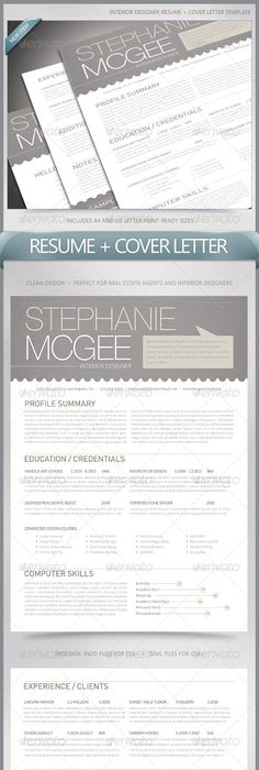 Interior Design Resume Cover Letter  Cv    Design