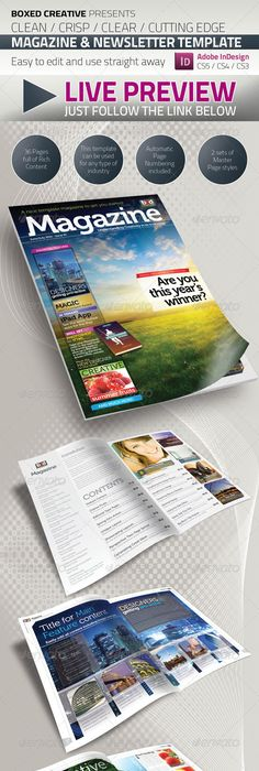 High Quality Teenage Magazine Indesign Template  Only Available