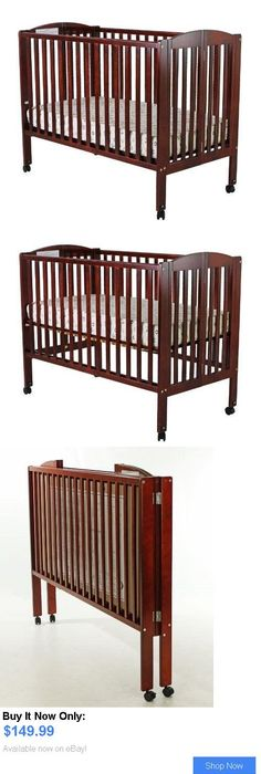 Baby Nursery Dream On Me Full Size Folding Stationary Side Wooden Unisex Crib