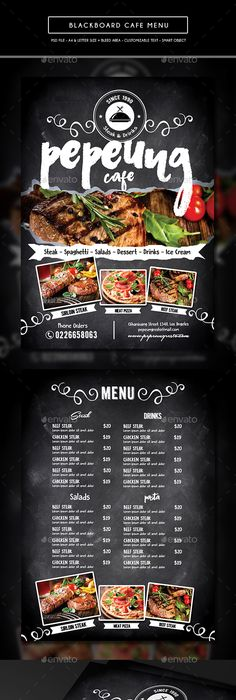 Chinese Restaurant Menu Flyers   Options  Ai Illustrator