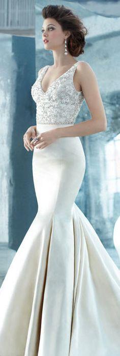 A stunning antiqued silk faced satin glam wedding dress. So gorgeous ...