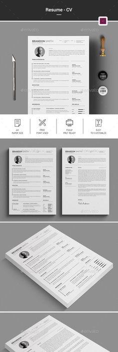Resume Cv template, Resume cv and Simple resume - simple resume format